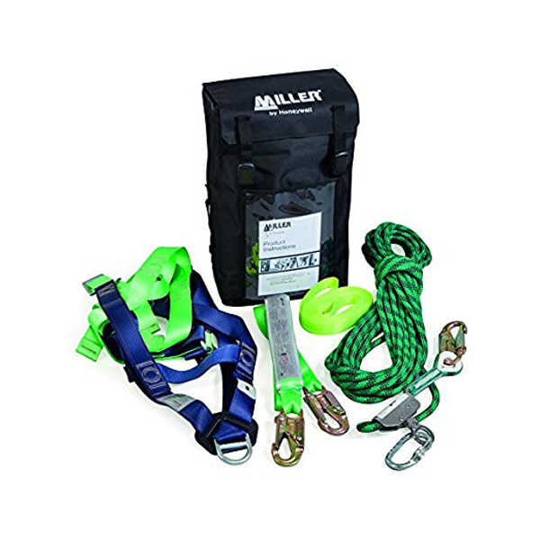 Honeywell Miller Roof Worker Backpack Kit - Harness, 15M Anchor Line, Type 1 Fall Arrestor