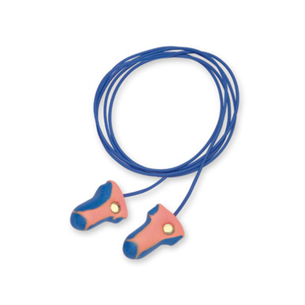 Honeywell Howard Leight LT-30 Laser Trak Single Use Earplug - Detectable Cord - Bag of 100
