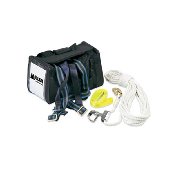 Honeywell Miller Roof Workers Kit - Harness, 15M Anchor Line, Type 1 Fall Arrest, Webbing Tie Off, Bag
