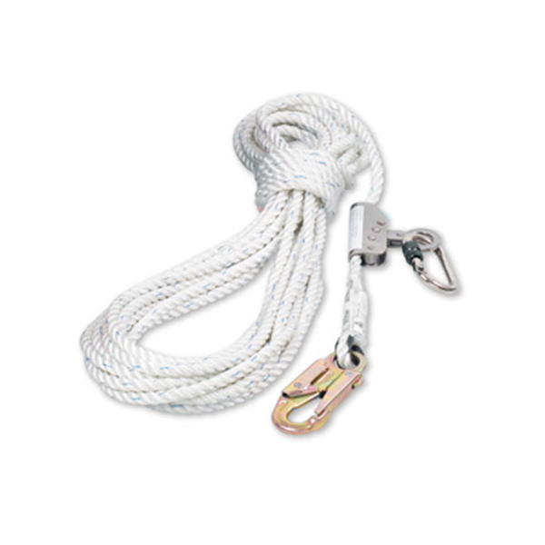 Honeywell Miller Kernmantle Anchorage Line, 11mm x 15M, 19mm Hook